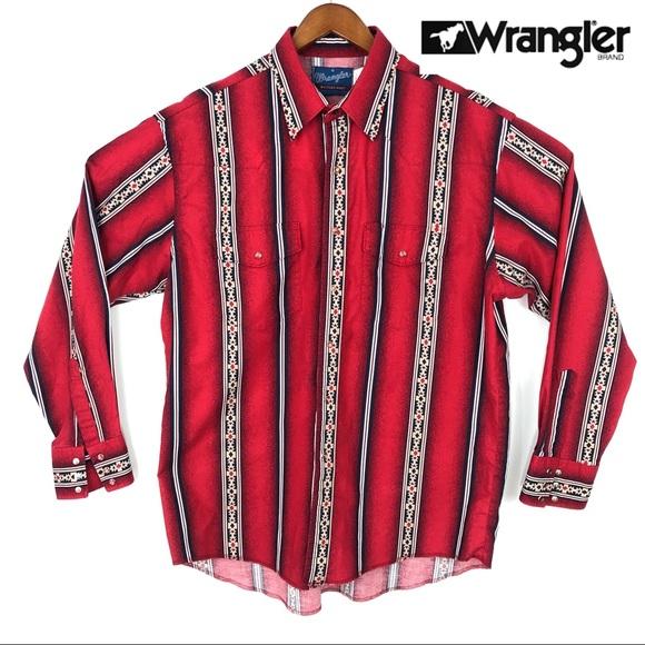 Wrangler Other - DROP $59 Vintage Pearl Snap Native Aztec western